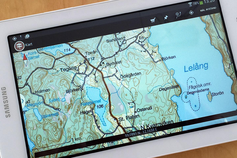 Test: Kart app för Sverige, Norge, Danmark och Finland